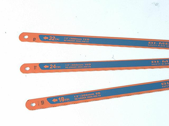 3906 Sandflex Hacksaw Blades 300mm (12in) Pack 3 (18, 24 & 32tpi)