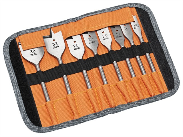 9529 S8 Flat Bit Set of 8 In Roll Case