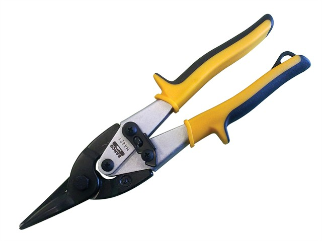 MA421 Yellow/Blue Aviation Compound Snip Straight Cut 250mm