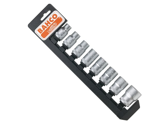 S8SR Socket Set of 8 on Holder Metric 1/2in Drive