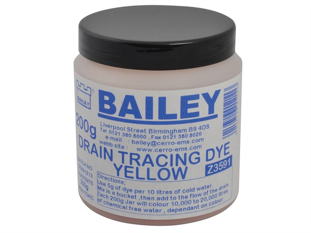 3591 Drain Tracing Dye - Yellow