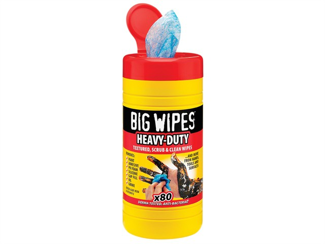 Red Top Heavy-Duty Wipes Tub of 80