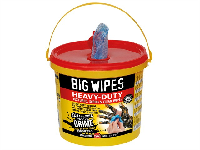 4x4 Heavy-Duty Cleaning Wipes Bucket of 240