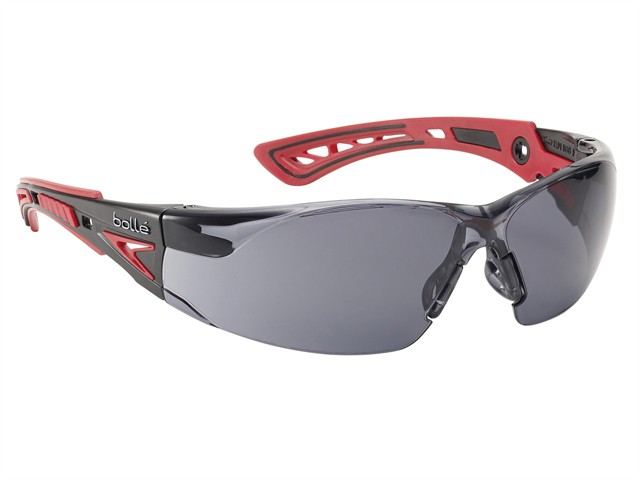 Rush+ Platinum Safety Glasses Smoke