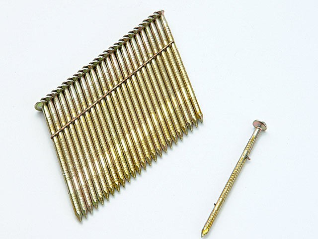 28° Galvanised Ring Shank Stick Nails 3.1 x 90mm Pack of 2,000