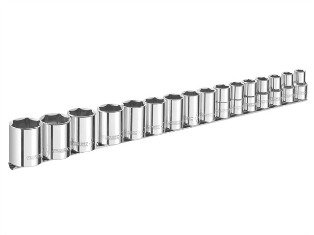 Socket Set of 16 Metric 1/2in Drive