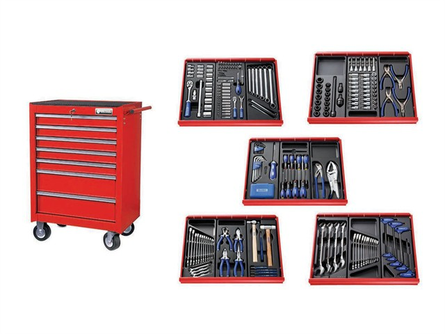 E220328B Roller Cabinet Toolkit 285 Piece Red
