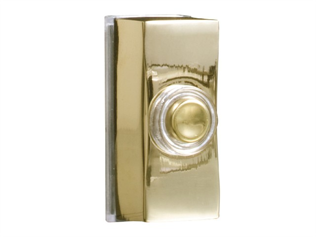 7960B Wired Illuminated Bell Push Brass