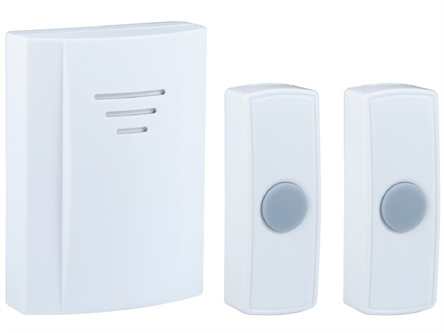 B314 Wireless Doorbell with Portable Chime & 2 Bell Pushes 50m