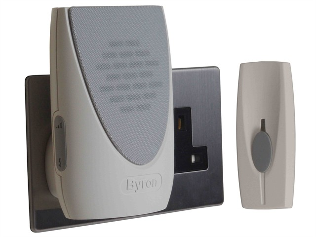 BY202F Wireless Doorbell with Plug In Flashing Chime 100m