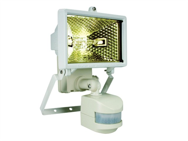 ES120W Halogen Floodlight With PIR White 120 Watt