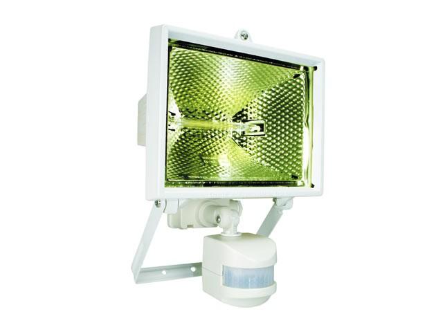 ES400W Halogen Floodlight with PIR White 400 Watt