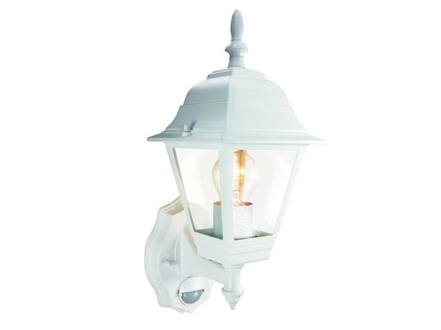 ES94W 4-Panel Coach Lantern with PIR White