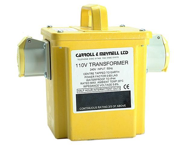 1500/2 Transformer Twin Outlet Rating 1.50Kva Continuous 750va