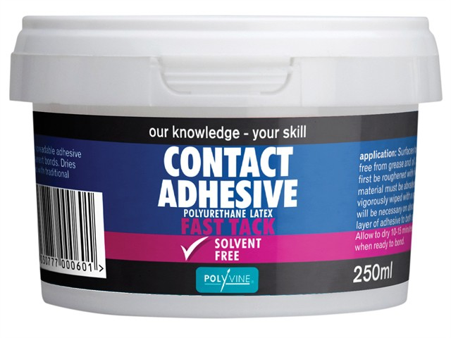 Contact Adhesive Solvent Free Fast Tack 250ml