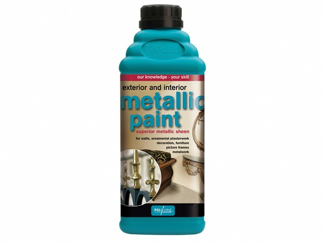 Exterior & Interior Metallic Paint Bright Gold 500ml