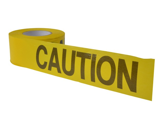 Standard Grade Barricade Tape - Caution Yellow 305m (1000ft)