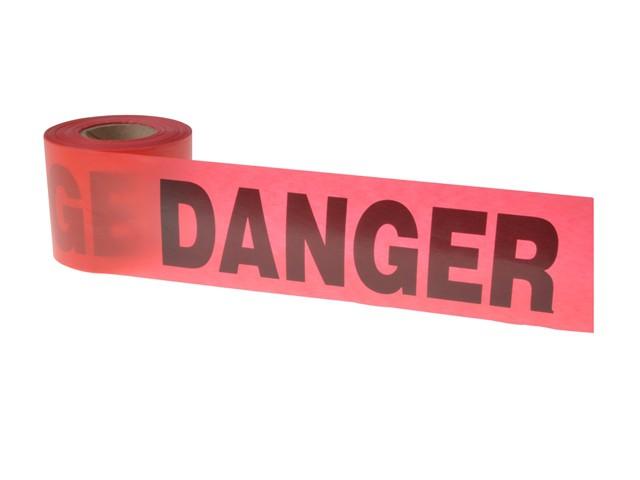 Standard Grade Barricade Tape - Danger Red 91m (300ft)