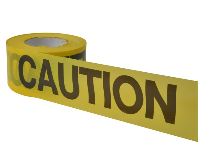 Economy Grade Barrier Tape - Caution Yellow 305m (1000ft)