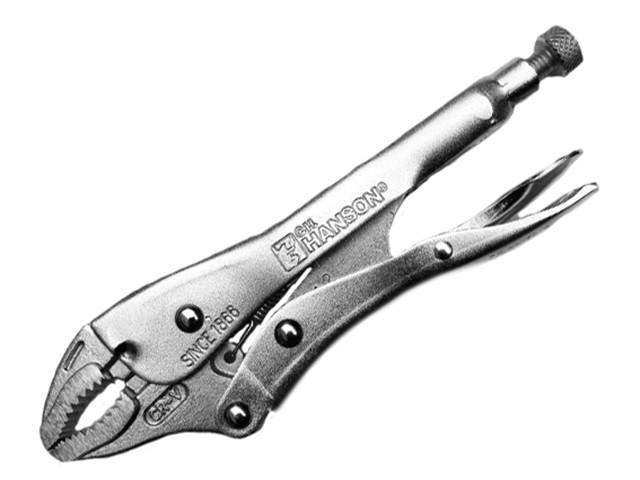 Manual Locking Curved Jaw Pliers 180mm (7in)
