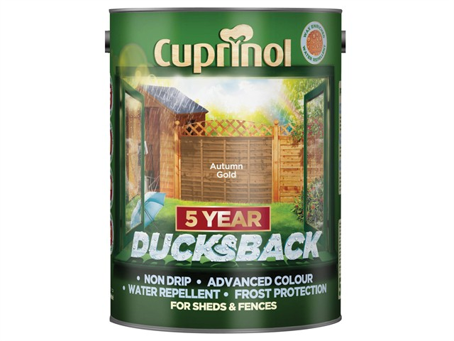 Ducksback 5 Year Waterproof for Sheds & Fences Autumn Gold 5 Litre