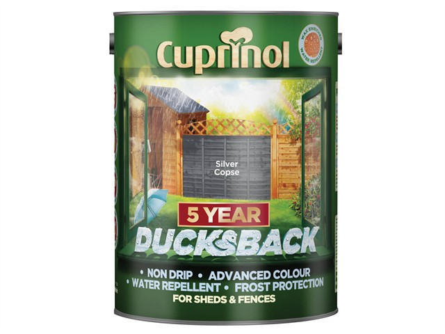 Ducksback 5 Year Waterproof for Sheds & Fences Silver Copse 5 Litre