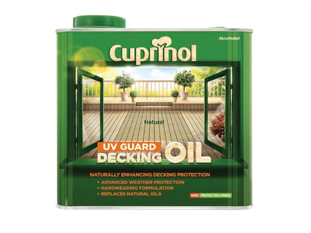UV Guard Decking Oil Natural 2.5 Litre