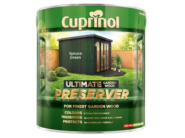 Ultimate Garden Wood Preserver Spruce Green 4 Litre