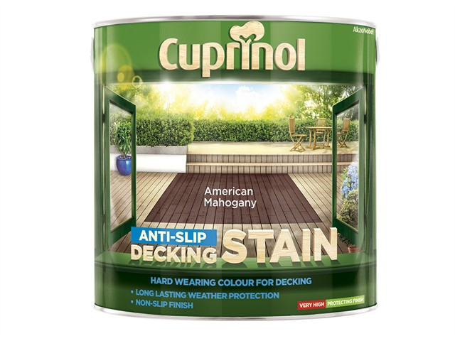 Anti-Slip Decking Stain American Mahogany 2.5 Litre