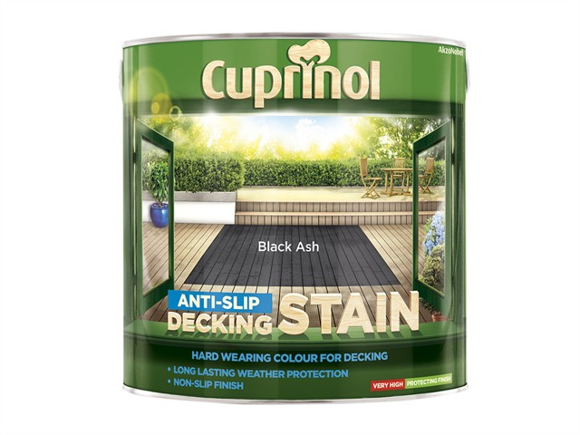 Anti Slip Decking Stain Black Ash 2.5 Litre