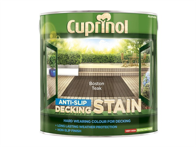 Anti Slip Decking Stain Boston Teak 2.5 Litre
