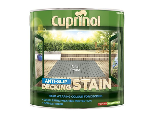 Anti Slip Decking Stain City Stone 2.5 Litre