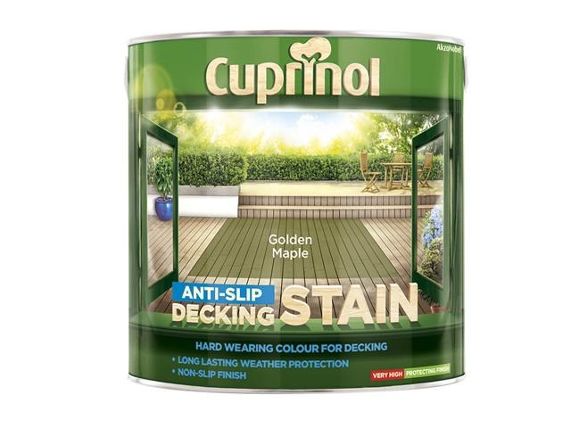 Anti-Slip Decking Stain Golden Maple 2.5 Litre