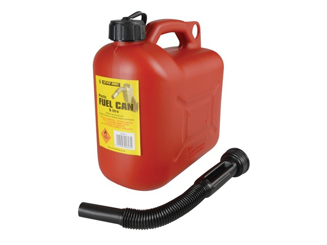 Leaded Petrol Can & Spout Red 5 Litre