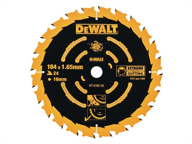Circular Saw Blade 184 x 16mm x 24T Corded Extreme Framing