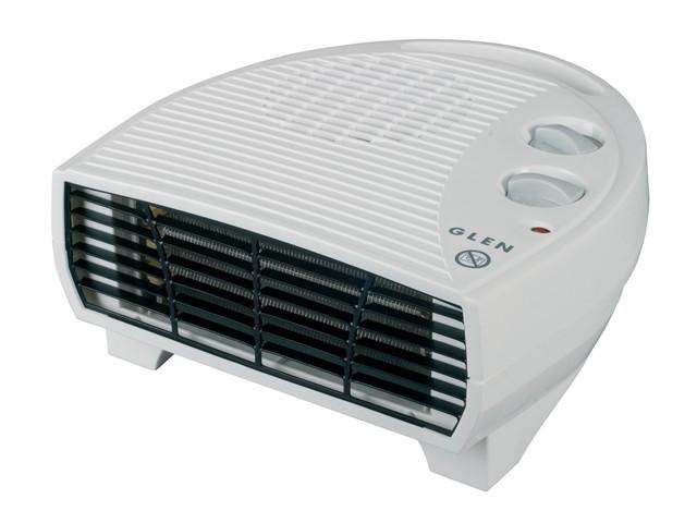 Glen Flat Fan Heater With Thermostat 2kW