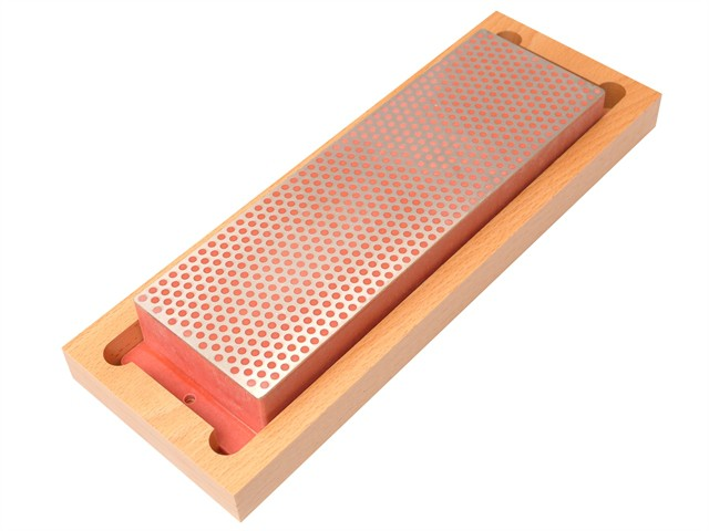Diamond Whetstone 200mm Wooden Box Red 600 Grit Fine