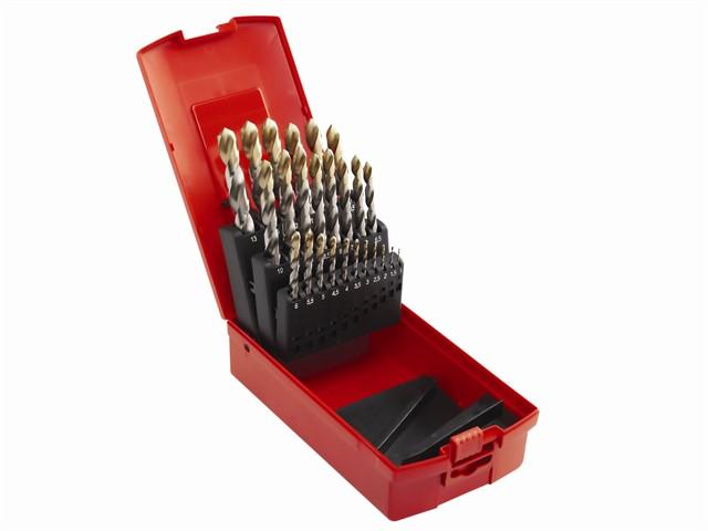 A095 Comp HSS TiN Drill Set of 19 1.0-10 x 0.5mm