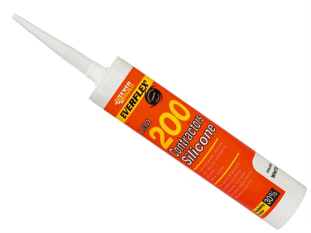 Contractors Silicone Sealant 295ml White 200