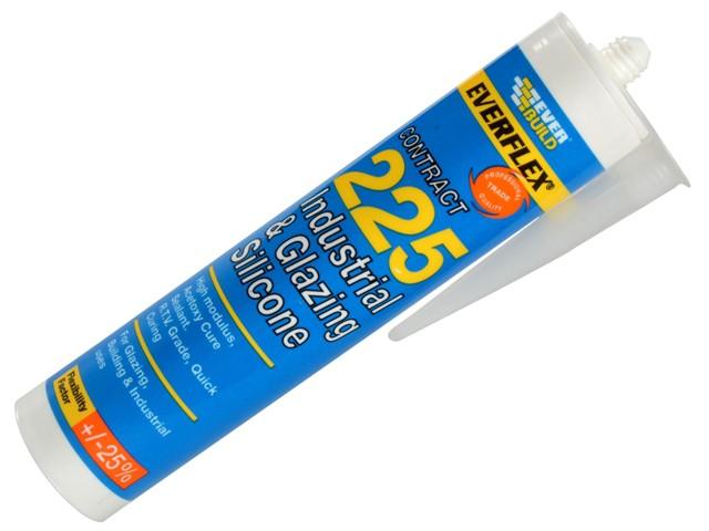 Industrial & Glazing Silicone Translucent 295ml 225
