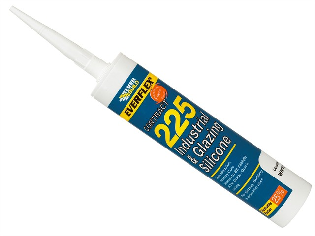 Industrial & Glazing Silicone White 295ml 225