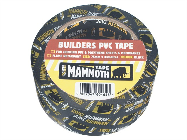 Builder's PVC Tape Black 50mm x 33m