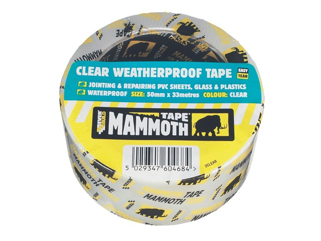 Clear Weatherproof Tape 50mm x 10m