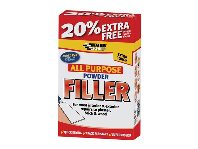 All Purpose Powder Filler 1.5kg + 20% Free