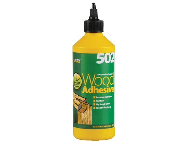 502 All Purpose Weatherproof Wood Adhesive 500ml