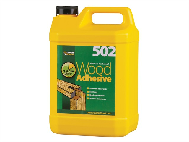 502 All Purpose Weatherproof Wood Adhesive 5 Litre