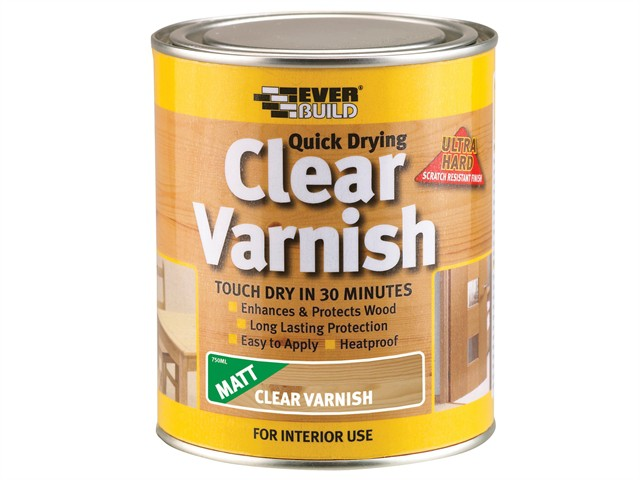 Quick Dry Wood Varnish Matt Clear 2.5 Litre
