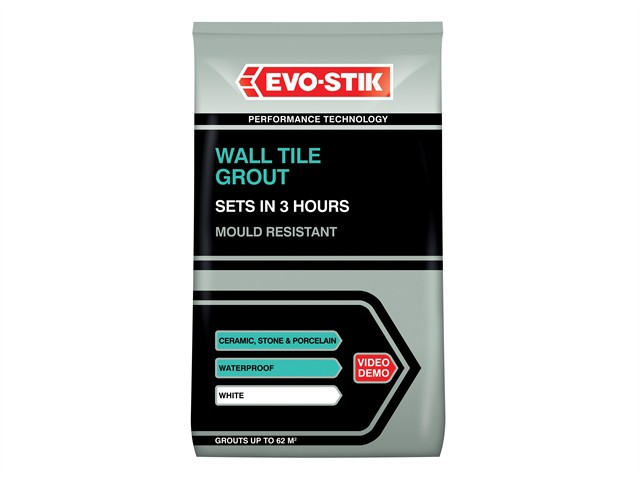 Wall Tile Grout Mould Resistant White 1.5kg