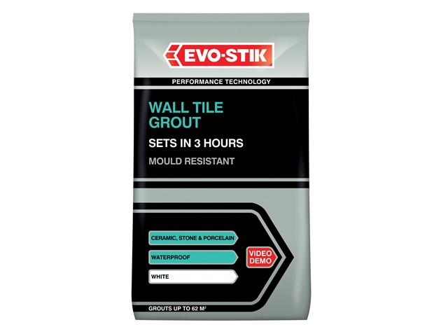 Wall Tile Grout Mould Resistant White 3kg