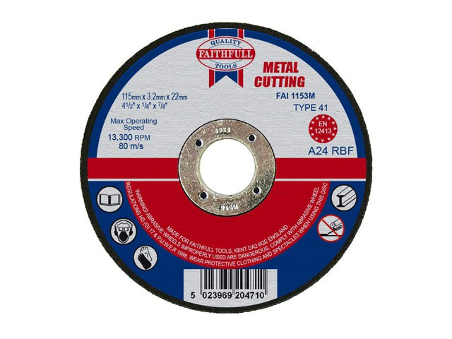 Metal Cut Off Disc 115 x 3.2 x 22.23mm
